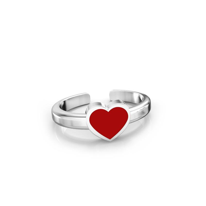 Кольцо с эмалью Сердечко 529
