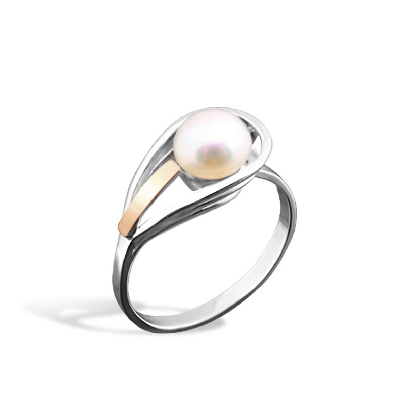 Кольцо с жемчугом 107
