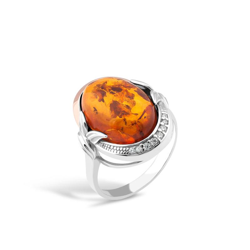 Кольцо с янтарем 224