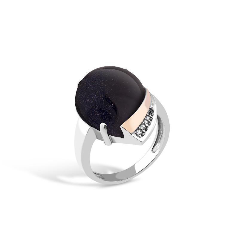 Кольцо с авантюрином 526
