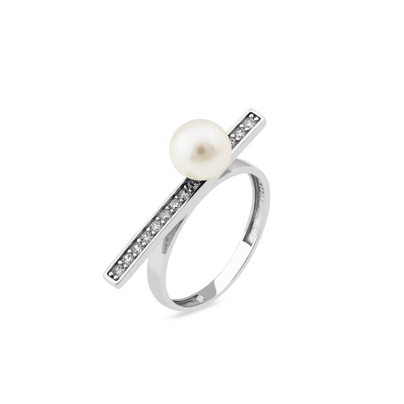 Кольцо с жемчугом 904