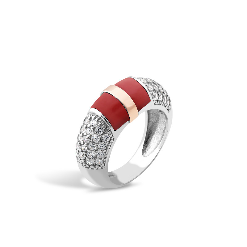 Кольцо с кораллом 220
