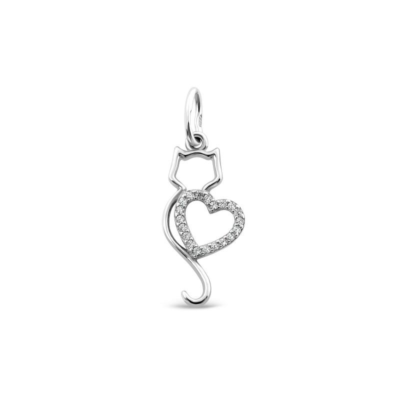 Серебряная подвеска Сердце 696