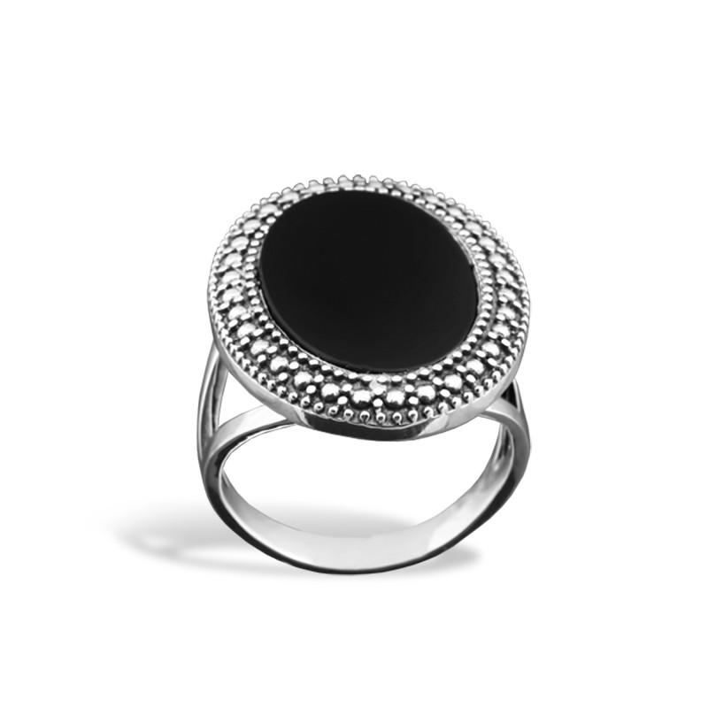 Кольцо с ониксом 069