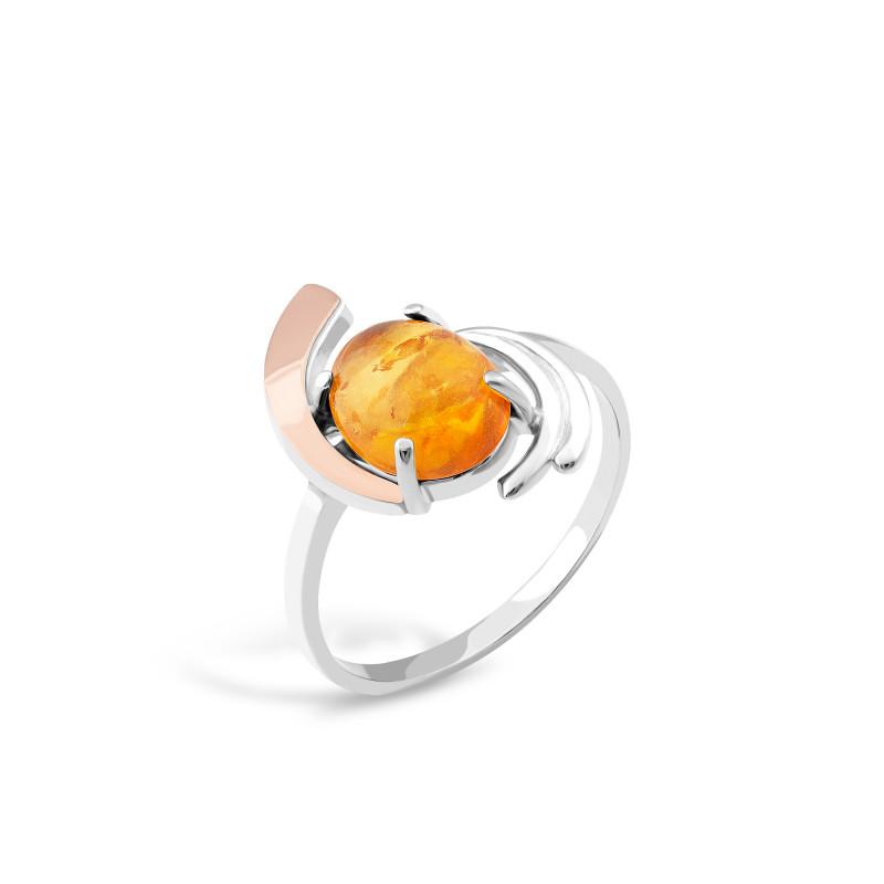 Кольцо с янтарем 145